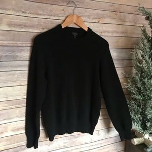 J.Crew black wool warm cozy crew neck sweater
